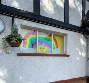 Action for Children Art Gallery Image - rainbow in a window