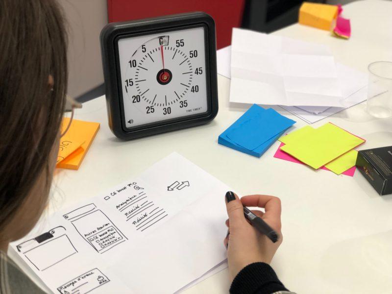 Child sketching a design