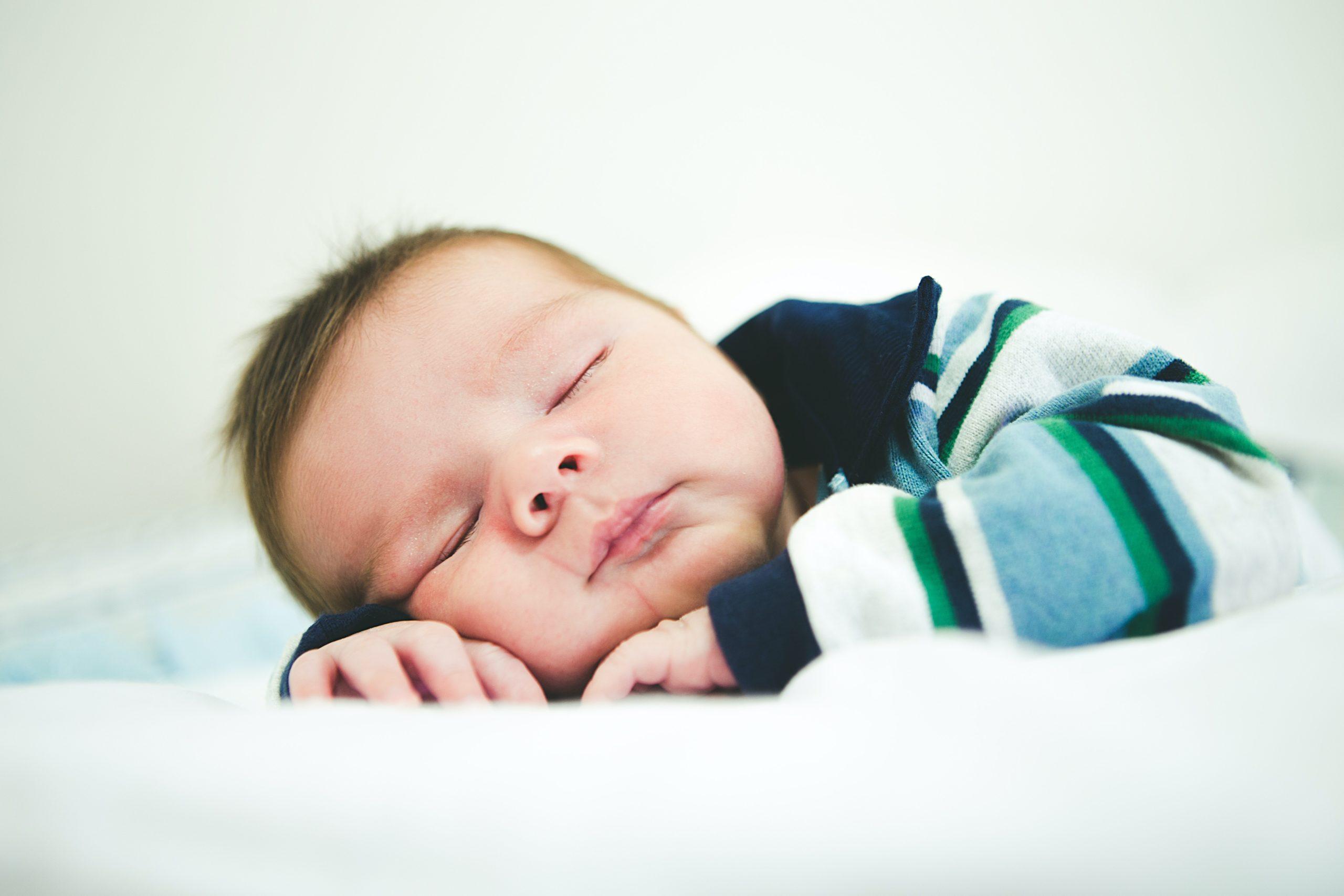 Settled baby sleeping