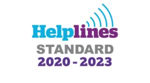 Helpline Standard accreditation logo